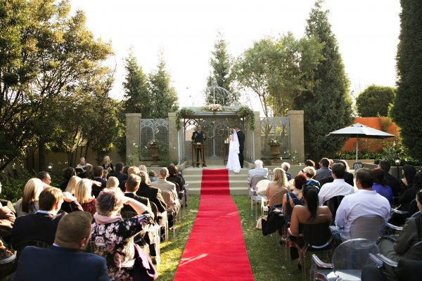 Gorgeous Outside Wedding with Guests
